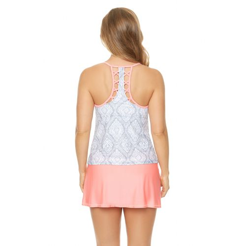 BCG Women's New Folk Effect Tankini Swim Top - view number 1