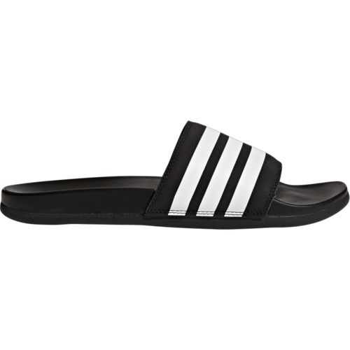 adidas Men's Adilette Cloudfoam Plus Stripes Slides