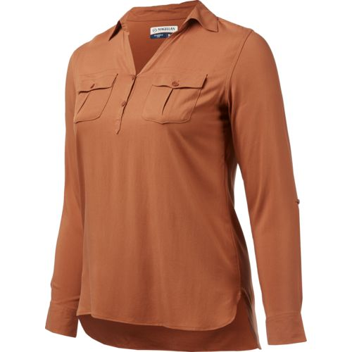 Display product reviews for Magellan Outdoors Women's Adventure Gear Long Sleeve Henley Shirt