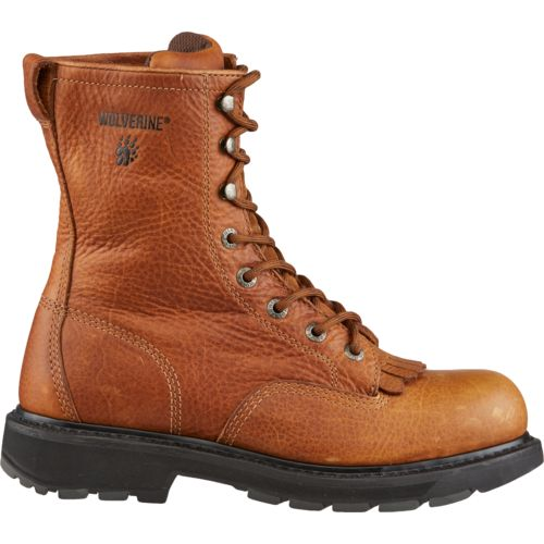 Display product reviews for Wolverine Men's Steel-Toe 8 in Kiltie Lacer Boots