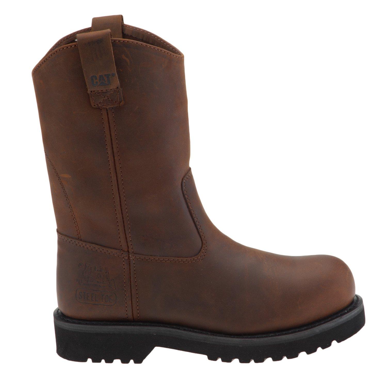 Cat Footwear Men's Square Toe Wellington Work Boots