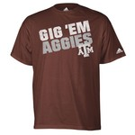 adidas Men's Texas A&M University Gig 'Em Aggies T-shirt