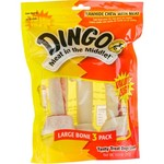 Dingo Meat in the Middle™ Large Rawhide Chews 3-Pack