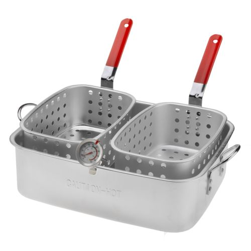 outdoor gourmet 15 qt pan with dual baskets