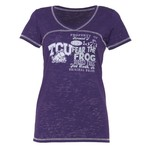 Step Ahead Blue 84 Women's TCU Bo V-neck T-shirt