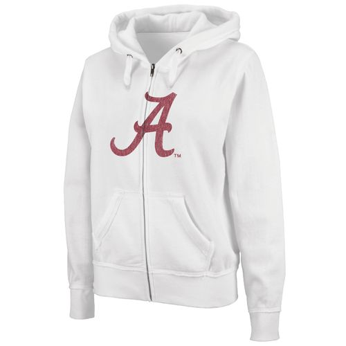 Colosseum Athletics Women's University of Alabama Cozy Full Zip Fleece Hoodie