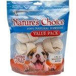 Nature's Choice Knotted Rawhide Dog Bones 3-Pack