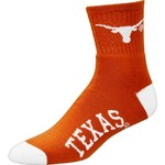 For Bare Feet Men's University of Texas Quarter Socks