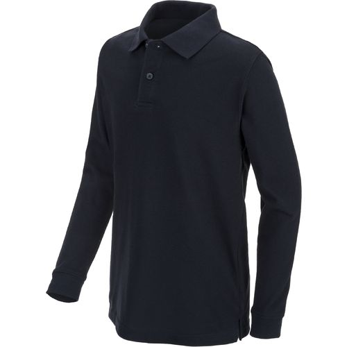 Austin Trading Co. Boys' Long Sleeve Pique Polo Uniform Shirt