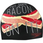 Speedo Adults' Elastomeric Bacon-On-It Swim Cap