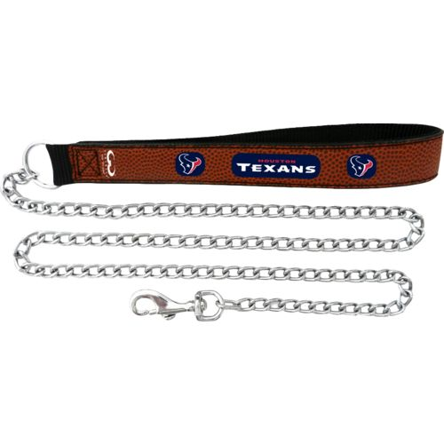GameWear Houston Texans Football Leather Chain Leash