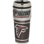 Great American Products Atlanta Falcons 16 oz. Travel Tumbler with Metallic Wrap