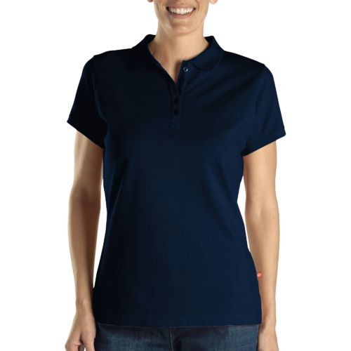 Dickies Women's Solid Piqué Polo Shirt