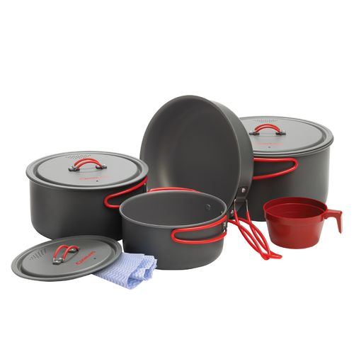 Display product reviews for Coghlan's Hard-Anodized Aluminum Cookware Set