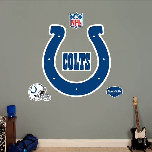 Fathead Indianapolis Colts Logo and Team Decals 5-Pack