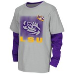 Colosseum Athletics Kids' Louisiana State University Flanker Long Sleeve Layer T-shirt
