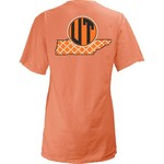 Three Squared Juniors' University of Tennessee Quatrefoil State Monogram T-shirt
