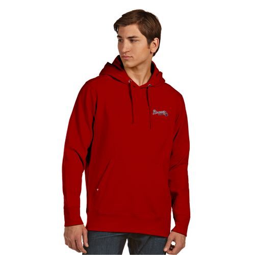 Antigua Men's Atlanta Braves Signature Pullover Hoodie - view number 2
