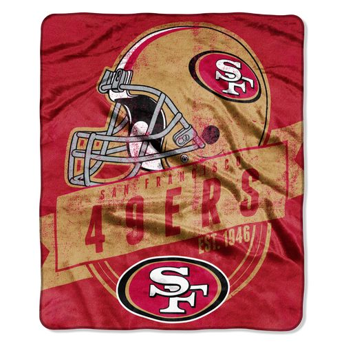 The Northwest Company San Francisco 49ers Grandstand Raschel Throw