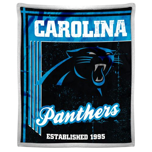 The Northwest Company Carolina Panthers Old School Mink with Sherpa Throw