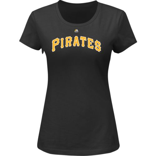 Majestic Women's Pittsburgh Pirates Wordmark T-shirt