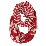 ZooZatz Women's University of Oklahoma Stripe Infinity Scarf