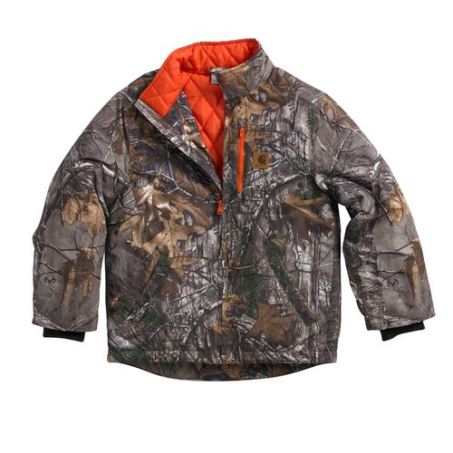 Carhartt Boys' Quilted Flannel Realtree Xtra® Camo Jacket