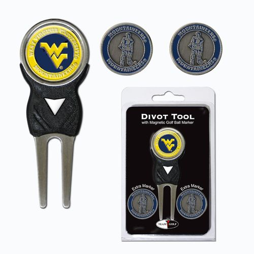 Team Golf West Virginia University Divot Tool and