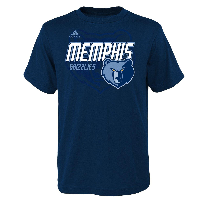 adidas™ Boys' Memphis Grizzlies Distressed Logo T-shirt