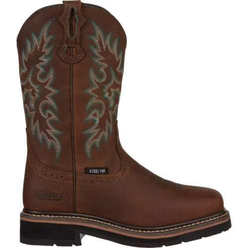 Brazos Women's Bandero Square Steel Toe Wellington Work Boots