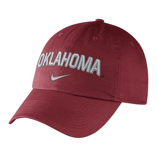 Nike™ Men's University of Oklahoma Heritage86 Wordmark Swoosh Flex Cap