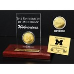 The Highland Mint University of Michigan Gold Coin Etched Acrylic