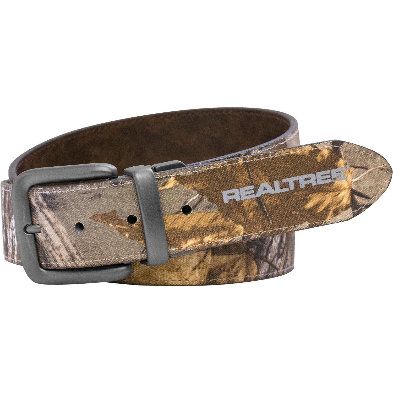 Realtree Men's Camo Stitched Reversible Belt