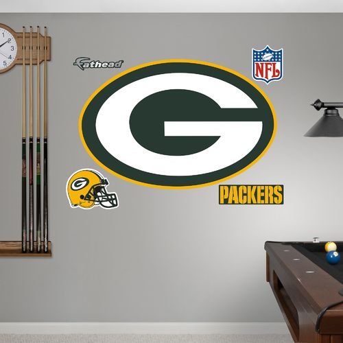 Fathead Green Bay Packers Real Big Team Logo Decal
