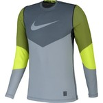 Nike Men's Pro Hyperwarm Dri-FIT Max Fitted Lines Long Sleeve Shirt