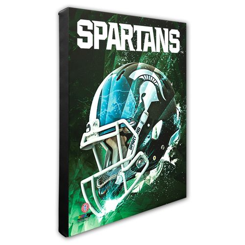 Photo File Michigan State University Helmet Stretched Canvas Photo - view number 1