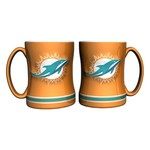 Boelter Brands Miami Dolphins 14 oz. Relief Mugs 2-Pack