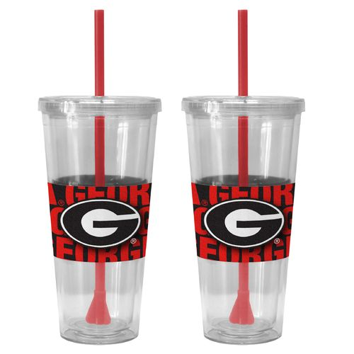 Boelter Brands University of Georgia Bold Neo Sleeve 22 oz. Straw Tumblers 2-Pack