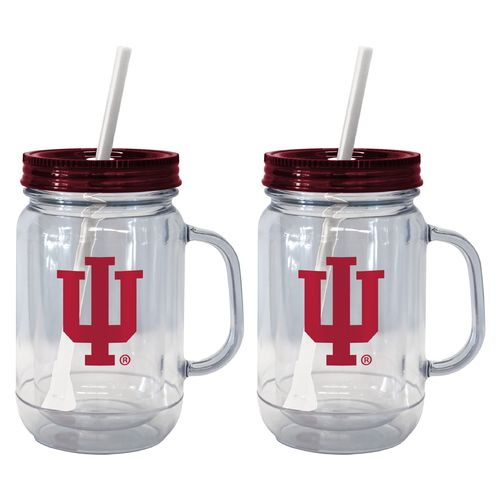 Boelter Brands Indiana University 20 oz. Handled Straw Tumblers 2-Pack