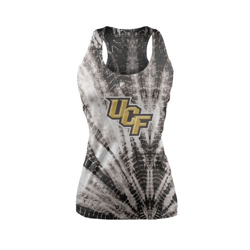 Chicka-d Women's University of Central Florida Tie Dye Racerback Tank Top