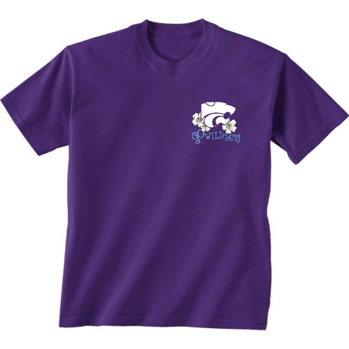 New World Graphics Women's Kansas State University Bright Plaid T-shirt - view number 2