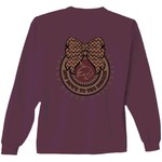 New World Graphics Women's Texas State University Ribbon Bow Long Sleeve T-shirt