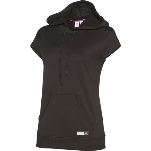 adidas™ Women's AdiGirl Short Sleeve Fleece Hoodie