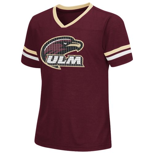 Colosseum Athletics™ Girls' University of Louisiana at Monroe Titanium T-shirt