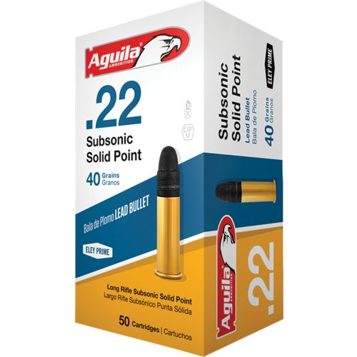 Aguila Ammunition Subsonic Solid-Point .22 40-Grain Rimfire Ammunition - view number 2