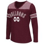 Colosseum Athletics™ Girls' Mississippi State University Cupie Long Sleeve T-shirt