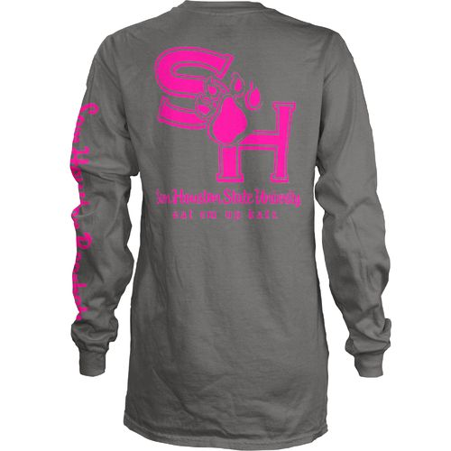 Three Squared Juniors' Sam Houston State University Cynthia Pocketed Long Sleeve T-shirt