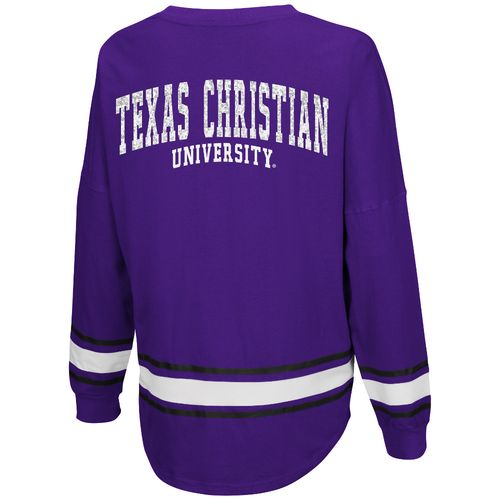 Colosseum Athletics™ Women's Texas Christian University My Boyfriend Varsity Pullover