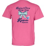 Blue 84 Women's University Kansas Bow Tie Overdyed T-shirt