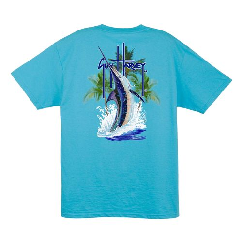 Guy Harvey Men's Palm Tree Splash Short Sleeve